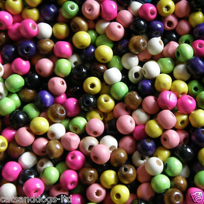 BUY1 BAG GET1 FREE  100x10mm Wooden Round Beads Colour Choice