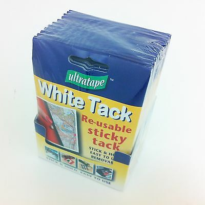 White Re-Usable Sticky Tack (Blue Blu Tac) Adhesive