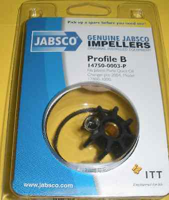 Jabsco 14750-0003 Impeller 17800-1000 Oil Changer 7520