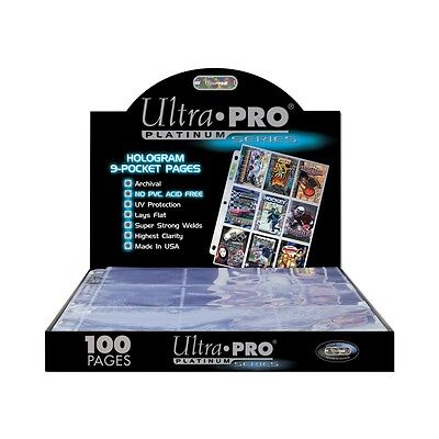 100 9-Pocket Pages Ultra Pro Platinum Card Storage Box SEALED BOX MADE IN U.S.A