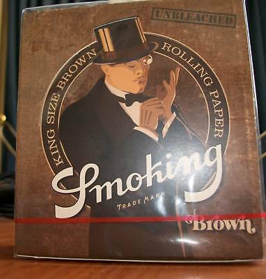 ROLLING PAPER, PAPEL SMOKING KING SIZE BROWN, BOX 50L. Papel de fumar natural.
