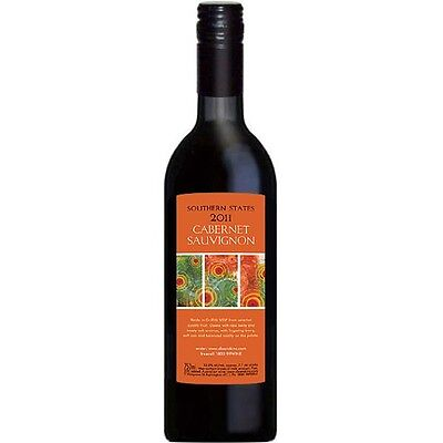 Southern States 2014 Cabernet Sauvignon - Cleanskin Red Wine x 12
