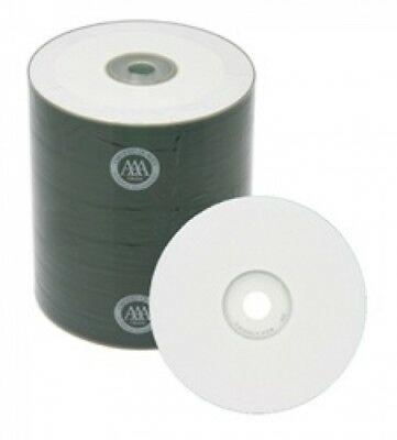100 Spin-X 12X Digital Audio Music CD-R 80min 700MB White Inkjet