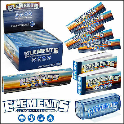 Elements Rolling Papers Tips Ultra Slim Rice Kingsize Roach No Chemicals No Ash