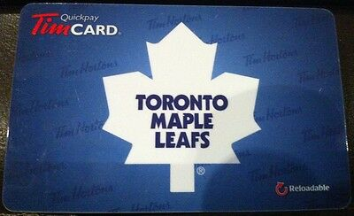 2012 Toronto Maple Leafs (FD26602) collectible Tim Hortons gift card (ncv)