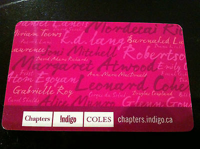 Chapters / Indigo AUTHORS / ARTISTS collectible gift card (cash value) PINK