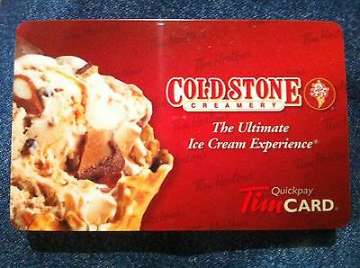 2011 Tim Hortons / Cold Stone Creamery FD26083 collectible gift card