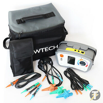 Kewtech KT64DL Digital 6-in-1 Multifunction Tester with FREE PAT Adaptor