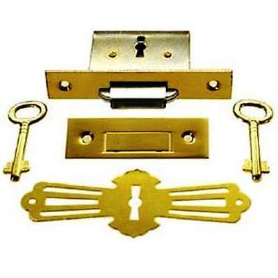 Replacement Roll Top Desk Lock & Skeleton Keys, Square Corners Lrt-4
