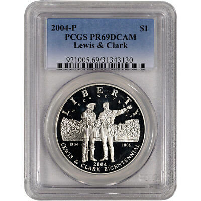 2004-P Lewis /& Clark Proof Silver Dollar Flashy and Bright! PCGS PR-69 DCAM