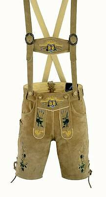 German Bavarian Lederhosen men brown suede leather 1004
