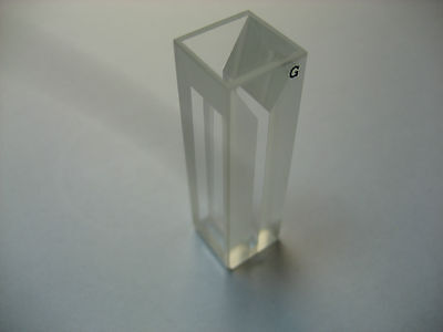 Micro Fluorescence Glass Cuvette,1cm,0.7mL  Cell Cuvettes,10mm light path,Cells