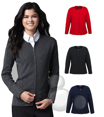 Ladies Cardigan Knitted Zip Jacket 4 Colours 7 Sizes Business Corporate New