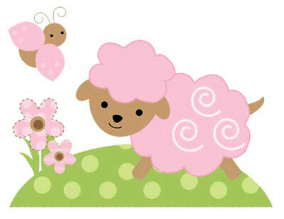 Barnyard Farm Animals Wall Decals Baby Girl Pink Nursery Kids Room Sticker Decor