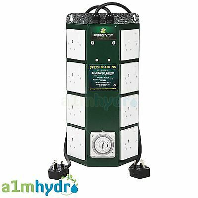 Green Power 8 Way Professional Contactor Relay Timer For Grow Light Hydroponics