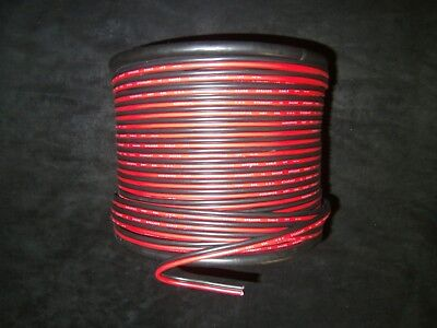 16 GAUGE 100 FT RED BLACK ZIP WIRE AWG CABLE POWER GROUND STRANDED COPPER CAR