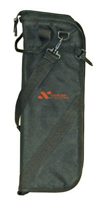 XTREME Stick Bag Black Nylon *NEW* Drums, 5mm Sponge Padding, Hanging Clips