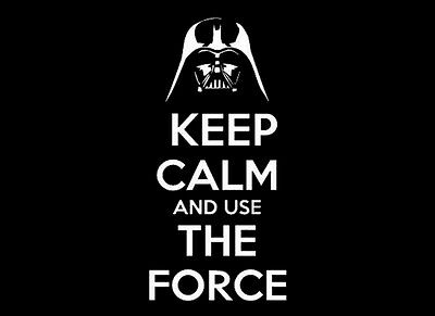 Star Wars - Keep Calm And Use The Force  - Quality Heavyweight  Mouse Mat / Pad
