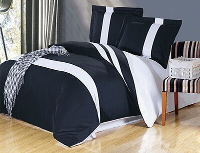 Single/Double/Queen/King Bed Blue-Black Quilt/Duvet Cover Set-Star Ocean