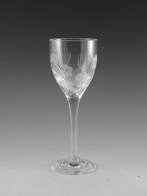 """Royal DOULTON Crystal - BOUQUET Cut - Sherry Wine Glass / Glasses - 6 1/8"""""""