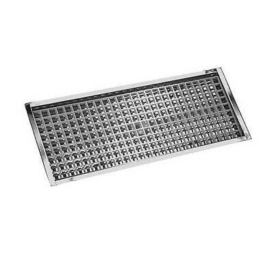 """23 7/8"""" Flanged Mount Drip Tray- Stainless Steel w/ Drain - Bar Draft Beer Spill"""