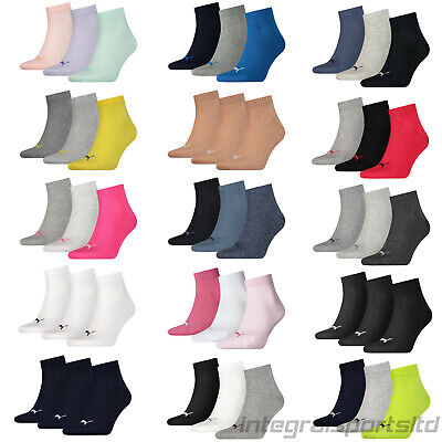 Puma Sports Socks Quarter Mens/Womens (3 Pair Sport Packs) UK Sizes 2.5 up to 14