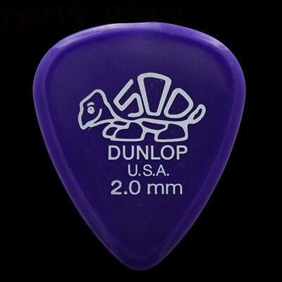 Dunlop Delrin Guitar Picks Plectrums 2.00mm Purple - 1 2 3 4 5 6 10 12 20 24