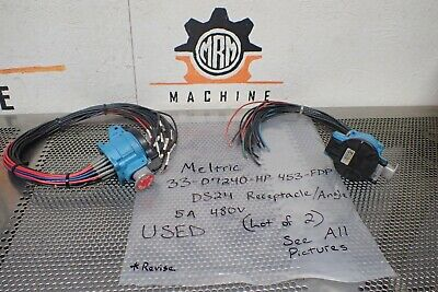 MELTRIC Corporation 33-07240-HP-453-FDP DS24 Receptacle Angle 5Amp 480V Used