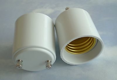 Adapter to Use E27 or E26 Light Bulbs in a GU24 fixture base- Buy MORE & SAVE!