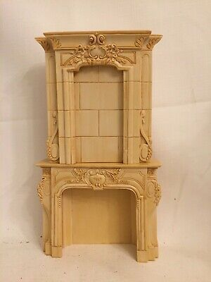 Fireplace Dollhouse Resin Marble Look 1:12 Scale Miniature Diorama