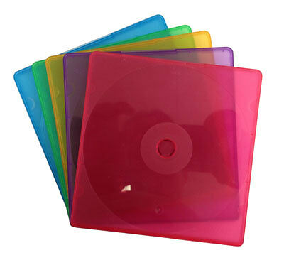 (SAMPLE) - 1 SLIM Assorted Color Single VCD PP Poly Cases 5MM