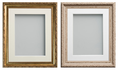 Frame Company Brompton Range Shabby Chic or Gold Picture Photo Frames with Mount
