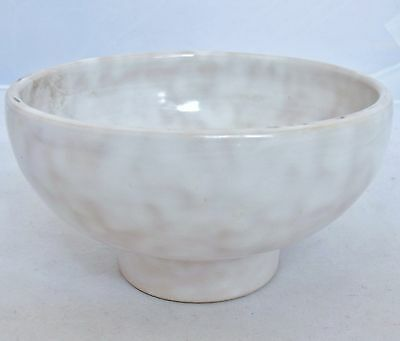 "5.2"" Antique ? Japanese White Milk Glazed Studio Art Pottery Tea Ceremony Bowl"