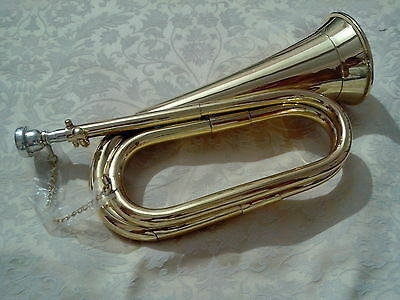 New British Army Bb Bugle Tune able Brass + case/BB BUGLE BRASS TUNE ABLE + CASE