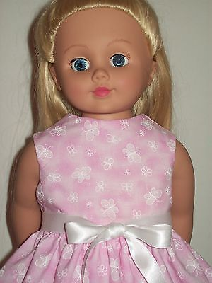 Doll Clothes Dress made for American Girl; Delicate Butterflies Pink Dress (P06)