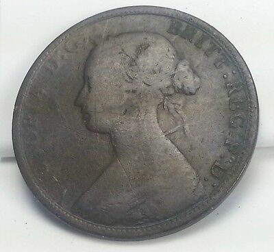 A Nice Vintage 1864 Canadian New Brunswick Large One Cent - Penny Coin