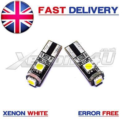 Mercedes W163 W164 Front Side Light Lamp Xenon White 3 SMD LED Bulbs W5W 501 T10