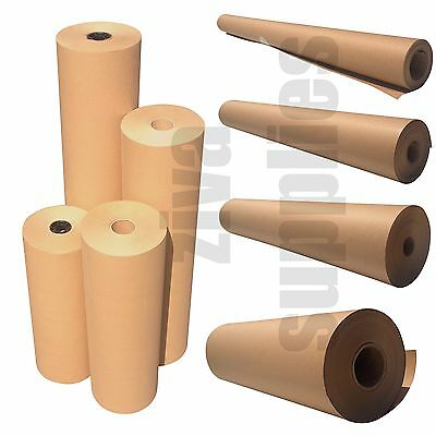 BROWN KRAFT WRAPPING PAPER-Parcel Packing Posting Postal -HEAVY DUTY ROLLS