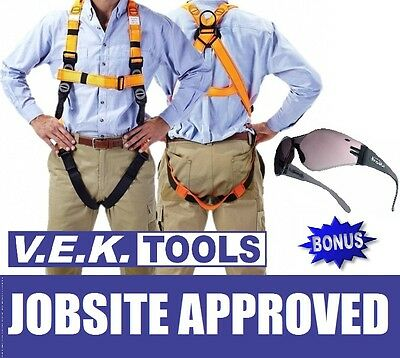 Linq Roofer Workers Fall Arrest Safety Harness & Bolle Kit-Aus Job Site Approved