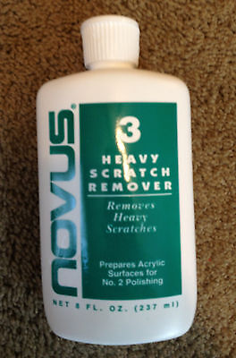 NOVUS #3 - Heavy scratch remover - 8oz bottle Great for Pinball / Free Shipping