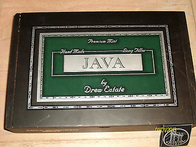 JAVA ROBUSTO PREMIUM MINT BY DREW ESTATE WOODEN CIGAR BOX FREE SHIP IN THE USA!