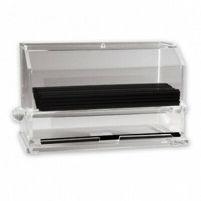 Straw Dispenser Clear Acrylic Drinking Holder Container Bar Counter Cafe NEW