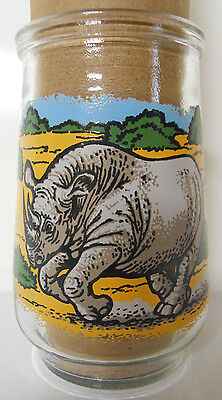 1995 Welch's Endangered Species Collection Jelly Jar Glass #2-Black Rhino