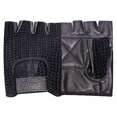 Prime Mesh Weight Lifting Padded Leather Gloves Training Cycling Gym Black - 405