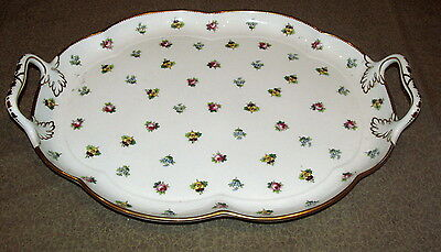 Antique English Porcelain Platter by Mintons Pansies Roses