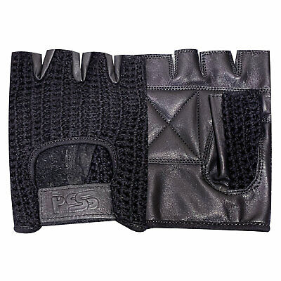 Leather Gloves Weight Training Padded Fitness Lifting Cycling Gym Black - 405