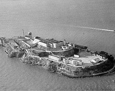Alcatraz Prison from the Air 10x8 Photo