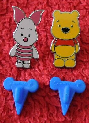 Official Disney Trading Pin 2006 Winnie the Pooh + Piglet Pair Lot World Land