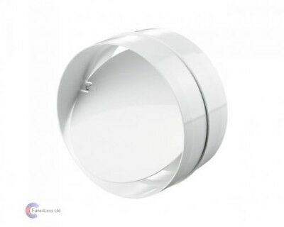 """Inline Back Draught Shutter Extractor Fan Ducting Bd-Con 4"""", 5""""  6"""""""