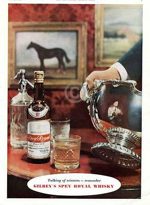 1954 Gilbey's Spey Royal Scotch Whisky AD Horse Trophy Winners